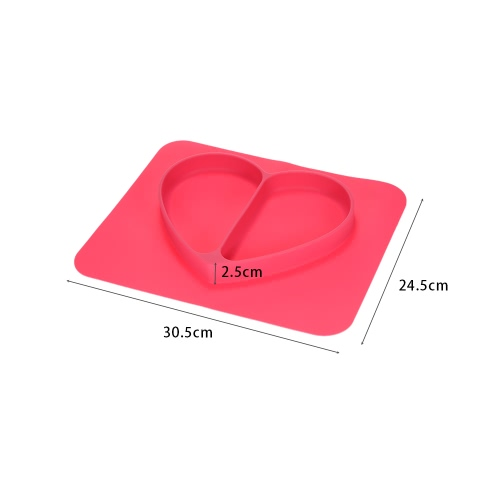2 in 1 Safe Waterproof Silicone Rose Heart Divided Placemat Plate Bowl Tableware for Baby Toddler KidsHome &amp; Garden<br>2 in 1 Safe Waterproof Silicone Rose Heart Divided Placemat Plate Bowl Tableware for Baby Toddler Kids<br>