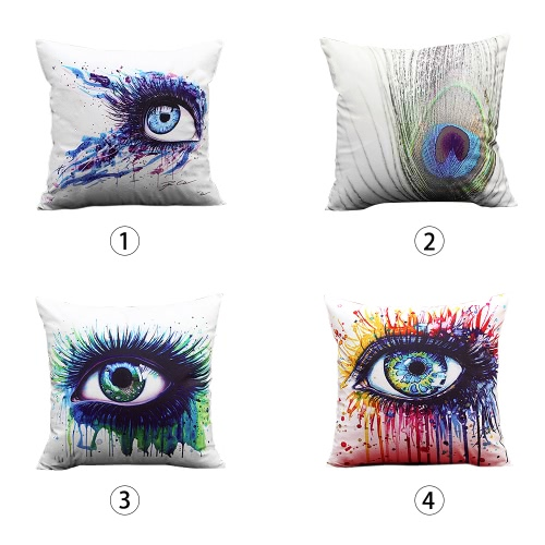Fashion Colorful Art Eye Print Throw Pillow Case Waist Cushion Cover Protector Bed Sofa Car Home DecorHome &amp; Garden<br>Fashion Colorful Art Eye Print Throw Pillow Case Waist Cushion Cover Protector Bed Sofa Car Home Decor<br>