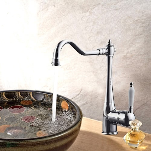 360° Rotating Basin Faucet Vintage Deck-mounted Kitchen Sink Faucet Bathroom Faucet Hot and Cold Water Mixer TapHome &amp; Garden<br>360° Rotating Basin Faucet Vintage Deck-mounted Kitchen Sink Faucet Bathroom Faucet Hot and Cold Water Mixer Tap<br>