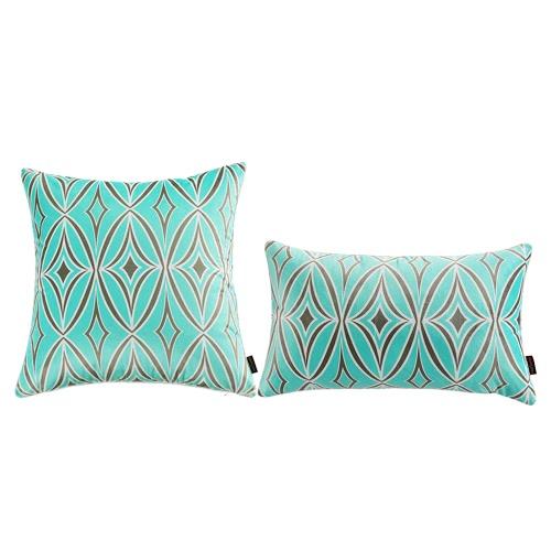 12*20 Rhombic Pattern Throw Pillow Case Soft Cushion Cover Sofa Chair Decorative Pillow Cover 30*50cm Pillow Sham with Hidden Zipper Closure