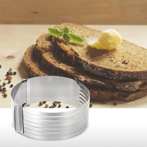 Stainless Steel 16-20cm Diameter Adjustable Cake Ring Mold Retractable Cake Bread Slicer Cutter Baking ToolHome &amp; Garden<br>Stainless Steel 16-20cm Diameter Adjustable Cake Ring Mold Retractable Cake Bread Slicer Cutter Baking Tool<br>