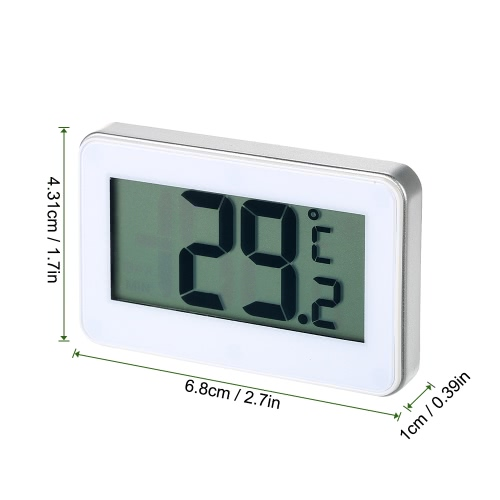 Digital LCD Display Fridge Freezer Refrigerator Frost Alert Thermometer Celsius Fahrenheit Switchable with Hook Rear MangetHome &amp; Garden<br>Digital LCD Display Fridge Freezer Refrigerator Frost Alert Thermometer Celsius Fahrenheit Switchable with Hook Rear Manget<br>