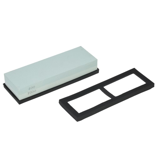 7*2*1 Knife Sharpening Stone 400/1000 Grit Coarse/Fine Combination Double Side Whetstone Grindstone for Knives 180*60*30mmHome &amp; Garden<br>7*2*1 Knife Sharpening Stone 400/1000 Grit Coarse/Fine Combination Double Side Whetstone Grindstone for Knives 180*60*30mm<br>