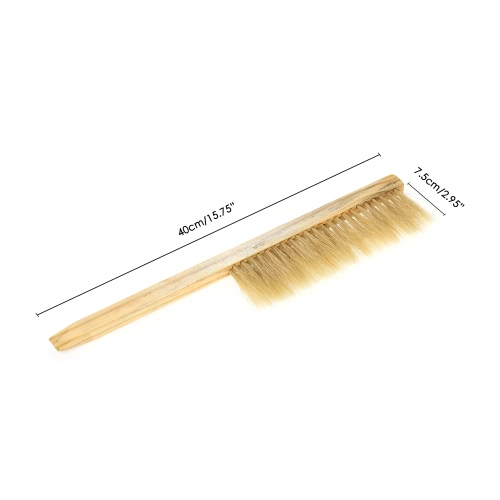 Double Row Natural Horse Hair Bee Yellow Hive Brush Beekeeping Equipment for Beekeeper ToolHome &amp; Garden<br>Double Row Natural Horse Hair Bee Yellow Hive Brush Beekeeping Equipment for Beekeeper Tool<br>