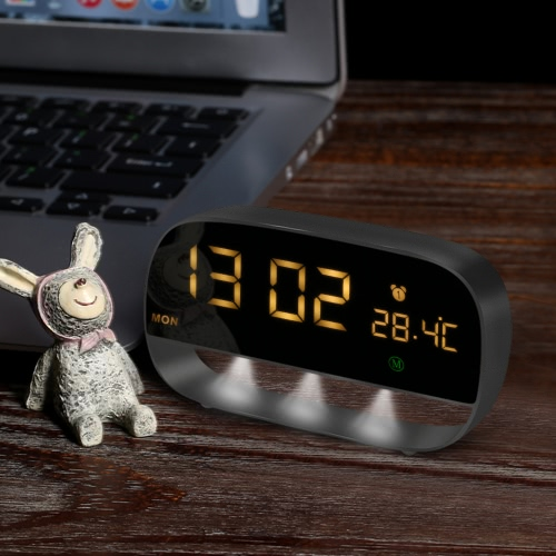 LED Digital Touch Alarm Clock with Night Light 3 Alarms Setting Year / Month Date / Time / Week / Temperature Display / Snooze FunHome &amp; Garden<br>LED Digital Touch Alarm Clock with Night Light 3 Alarms Setting Year / Month Date / Time / Week / Temperature Display / Snooze Fun<br>
