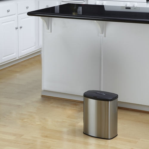 NINESTARS 2.1 Gallon Touchless Sensor Automatic Trash Can Smart Sensor Touchless Garbage Can Dust Bin Trash BinHome &amp; Garden<br>NINESTARS 2.1 Gallon Touchless Sensor Automatic Trash Can Smart Sensor Touchless Garbage Can Dust Bin Trash Bin<br>