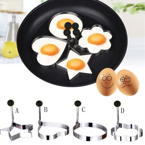 Breakfast Fried Egg Mold Interesting Cooking Tools Thickening Stainless Steel Mould Cute Flower Shaped Omelette Molds 4 Styles KitHome &amp; Garden<br>Breakfast Fried Egg Mold Interesting Cooking Tools Thickening Stainless Steel Mould Cute Flower Shaped Omelette Molds 4 Styles Kit<br>