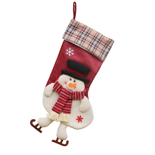 Christmas Hanging Stockings Gift Candy Bag Christmas Decoartions Ornaments--SantaHome &amp; Garden<br>Christmas Hanging Stockings Gift Candy Bag Christmas Decoartions Ornaments--Santa<br>