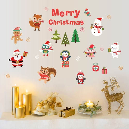 45 * 60cm Merry Christmas DIY Removable Wall Window Stickers Santa Claus Snowman Wall Art Decals Home DecorHome &amp; Garden<br>45 * 60cm Merry Christmas DIY Removable Wall Window Stickers Santa Claus Snowman Wall Art Decals Home Decor<br>