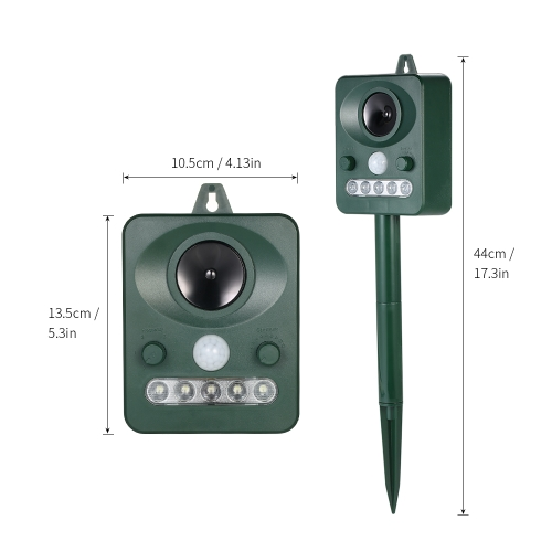 Solar Powered Ultrasonic Pest Animals Repeller Outdoor Animal Repellent for Repelling Raccoons Cats Dogs Birds with Flashing LED FHome &amp; Garden<br>Solar Powered Ultrasonic Pest Animals Repeller Outdoor Animal Repellent for Repelling Raccoons Cats Dogs Birds with Flashing LED F<br>