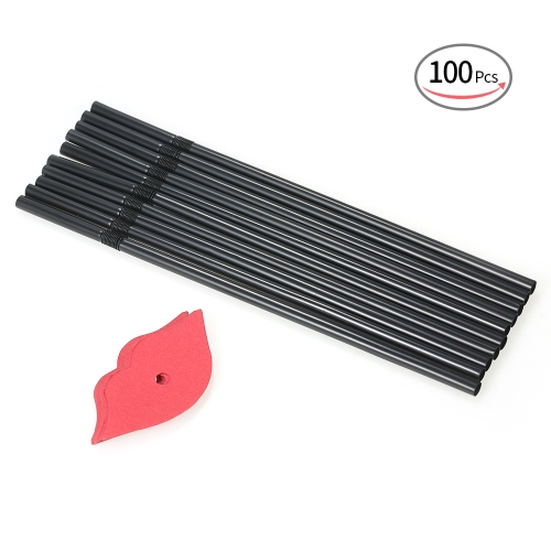 100pcs/set Black Long Flexible Disposable Plastic Drinking Straws for Birthday Wedding Pool Party Decorations Supplies--Black BearHome &amp; Garden<br>100pcs/set Black Long Flexible Disposable Plastic Drinking Straws for Birthday Wedding Pool Party Decorations Supplies--Black Bear<br>
