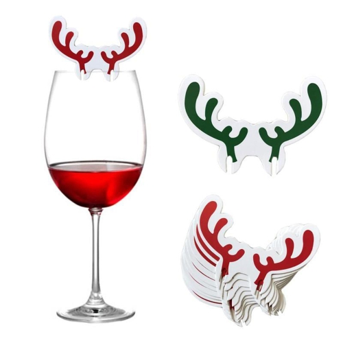 Christmas Wine-cup Card Antlers Snowman Hat Flag Festival Glass Cup Decoration New Year Cake Sign 10PCSHome &amp; Garden<br>Christmas Wine-cup Card Antlers Snowman Hat Flag Festival Glass Cup Decoration New Year Cake Sign 10PCS<br>