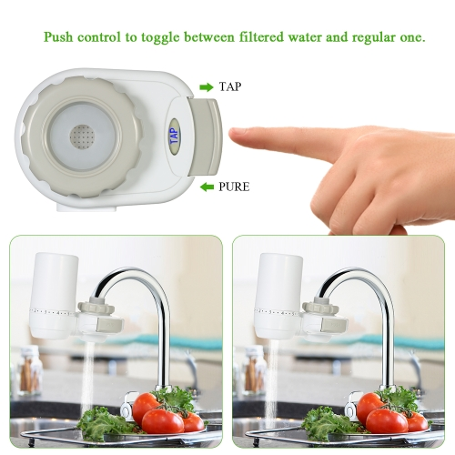 Tap Water Purifier with 1 Activated Carbon Filter Handy Kitchen Faucet Filter Element Portable Water Faucet PurifierHome &amp; Garden<br>Tap Water Purifier with 1 Activated Carbon Filter Handy Kitchen Faucet Filter Element Portable Water Faucet Purifier<br>