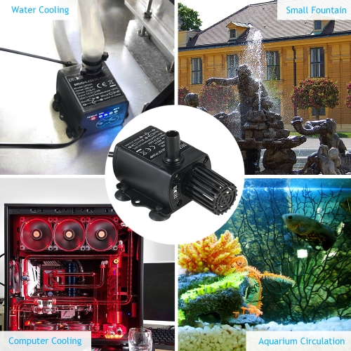 Decdeal Ultra-quiet Mini USB DC5V 4.8W 300L/H Lift 300cm Brushless Water Pump Waterproof Submersible Fountain with Flow AdjustmentHome &amp; Garden<br>Decdeal Ultra-quiet Mini USB DC5V 4.8W 300L/H Lift 300cm Brushless Water Pump Waterproof Submersible Fountain with Flow Adjustment<br>