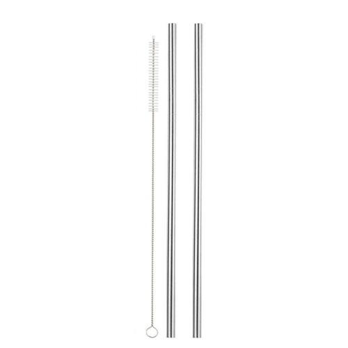 2pcs Stainless Steel Straws