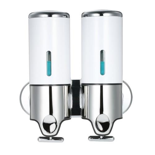 Dispensadores de jabón manuales de dos cámaras 500ml * 2
