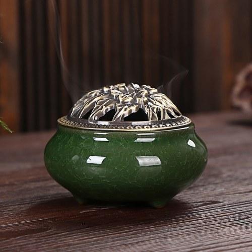 Ceramic Ice Crack Porcelain Aromatherapy Diffuser Sandalwood Censer
