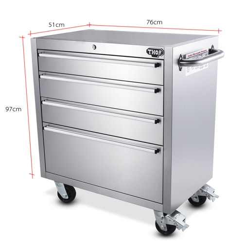 THOR HTC3008W-2 High Quality Anti-fingerprint Stainless Steel Rolling Tool Chests 30 Inch 4 Drawers Tool Box Excellent Tool StoragHome &amp; Garden<br>THOR HTC3008W-2 High Quality Anti-fingerprint Stainless Steel Rolling Tool Chests 30 Inch 4 Drawers Tool Box Excellent Tool Storag<br>