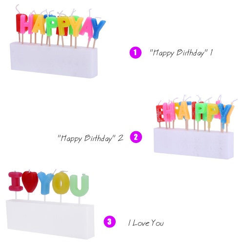 Douself Lovely Birthday Cake Candles Colorful Party Baking Decorations Supply Happy BirthdayHome &amp; Garden<br>Douself Lovely Birthday Cake Candles Colorful Party Baking Decorations Supply Happy Birthday<br>