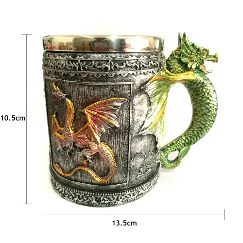 Hot Unique High Quality Stainless Steel Royal Dragon Coffee Beer Milk Mug Cup Tankard Novelty for Decoration GiftHome &amp; Garden<br>Hot Unique High Quality Stainless Steel Royal Dragon Coffee Beer Milk Mug Cup Tankard Novelty for Decoration Gift<br>