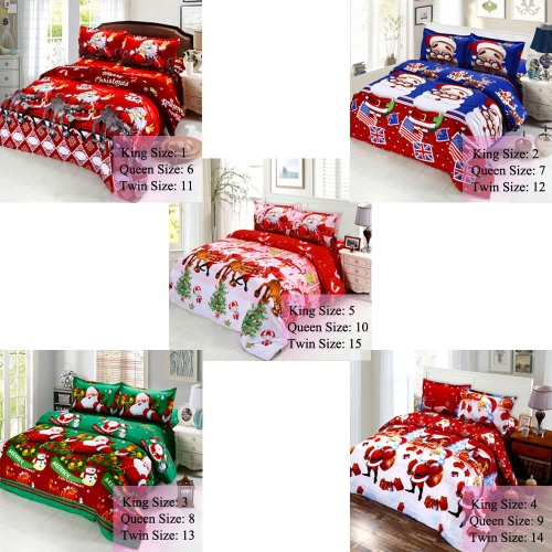 4pcs Cotton Material 3D Printed Cartoon Merry Christmas Gift Santa Claus Bedding Set Bedclothes Duvet Quilt Cover Bed Sheet 2 PillHome &amp; Garden<br>4pcs Cotton Material 3D Printed Cartoon Merry Christmas Gift Santa Claus Bedding Set Bedclothes Duvet Quilt Cover Bed Sheet 2 Pill<br>