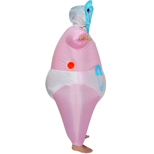 Cute Adult Inflatable Baby Costume Suit Blow Up Fancy Dress Festival Party Inflatable Full Body Outfit Jumpsuit Lovely Inflatable   Costume For Men Women
