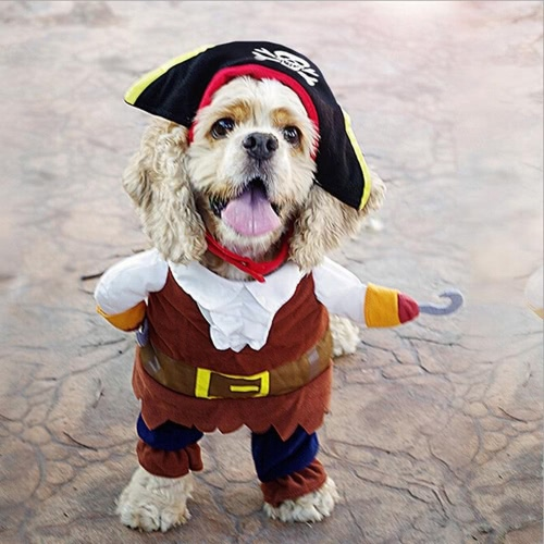 Cute Pet Pirate Costume Suit Apparel Dog Puppy Cat Clothes Coat Corsair Dressing Clothing Cosplay with Skull HatHome &amp; Garden<br>Cute Pet Pirate Costume Suit Apparel Dog Puppy Cat Clothes Coat Corsair Dressing Clothing Cosplay with Skull Hat<br>