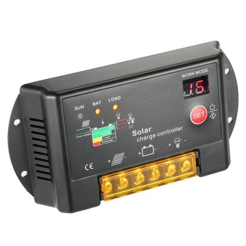 10A 12V/24V PWM Solar Charge Controller with LED Display Auto Regulator for Solar Panel Battery Lamp Overload ProtectionHome &amp; Garden<br>10A 12V/24V PWM Solar Charge Controller with LED Display Auto Regulator for Solar Panel Battery Lamp Overload Protection<br>
