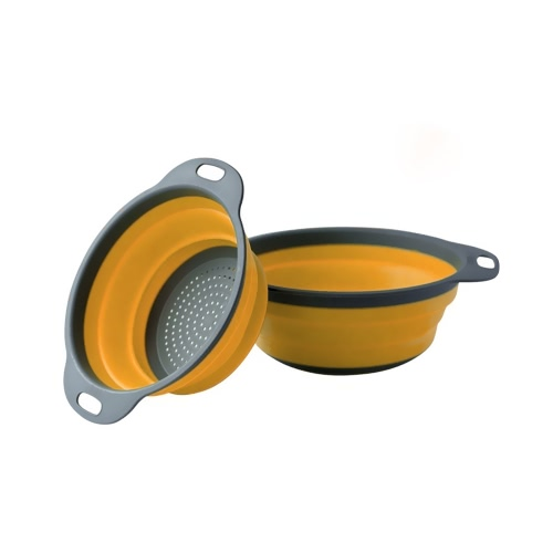 New Kitchen Collapsible Silicone Colander Foldable Fruit Vegetable Strainer Set Folding Strainers Tool Basket Washing Basin RedHome &amp; Garden<br>New Kitchen Collapsible Silicone Colander Foldable Fruit Vegetable Strainer Set Folding Strainers Tool Basket Washing Basin Red<br>