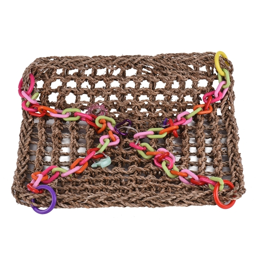 Natural Bird Nest Hammock Color Parrot Hanging Swing Chew Toy Bird Cage Accessories for Parakeet Budgie Macaw CockatooHome &amp; Garden<br>Natural Bird Nest Hammock Color Parrot Hanging Swing Chew Toy Bird Cage Accessories for Parakeet Budgie Macaw Cockatoo<br>