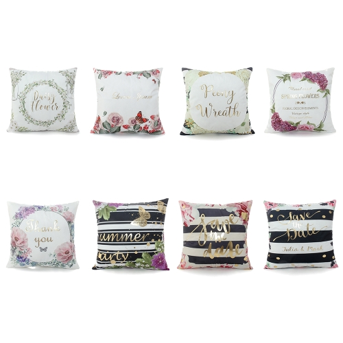 Home Textile Luxury Bronzing Cushion Covers Colorful Bed Home Decorative Square Throw Pillowcase Square Pillow Cover Printed CottoHome &amp; Garden<br>Home Textile Luxury Bronzing Cushion Covers Colorful Bed Home Decorative Square Throw Pillowcase Square Pillow Cover Printed Cotto<br>