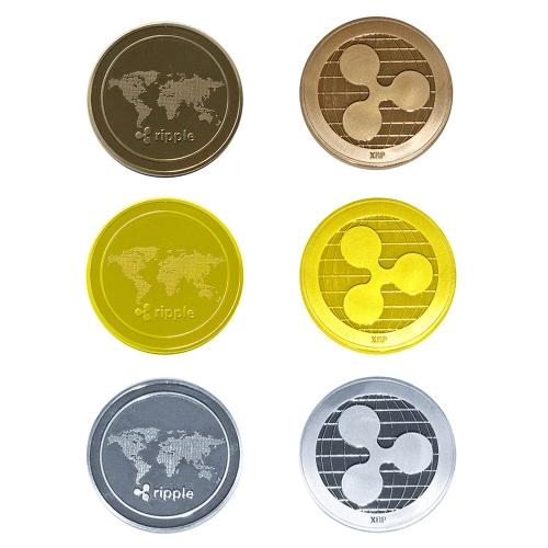 Collectible Ripple Coin Commemorative Round Collectors CoinsHome &amp; Garden<br>Collectible Ripple Coin Commemorative Round Collectors Coins<br>