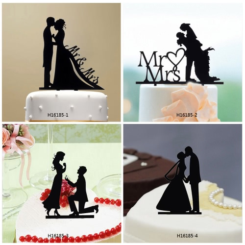 Classy Romantic Wedding Cake Topper High Quality Acrylic Bride &amp; Groom Silhouette Adorable Party Wedding DecorationHome &amp; Garden<br>Classy Romantic Wedding Cake Topper High Quality Acrylic Bride &amp; Groom Silhouette Adorable Party Wedding Decoration<br>