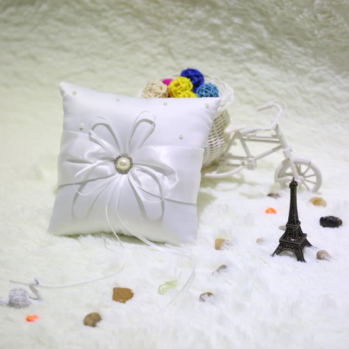 Romantic Soft Satin Wedding Ring Pillow Awesome Good Wedding SuppliesHome &amp; Garden<br>Romantic Soft Satin Wedding Ring Pillow Awesome Good Wedding Supplies<br>