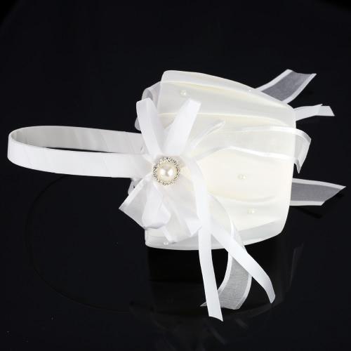 Romantic Wedding Satin Flower Basket Cute Small Flower Girl Basket for WeddingHome &amp; Garden<br>Romantic Wedding Satin Flower Basket Cute Small Flower Girl Basket for Wedding<br>