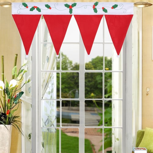 Cute Christmas Window Drape Panel Decorative Xmas Door Window Curtains Pennant Bunting Valance Christmas Decoration SuppliesHome &amp; Garden<br>Cute Christmas Window Drape Panel Decorative Xmas Door Window Curtains Pennant Bunting Valance Christmas Decoration Supplies<br>