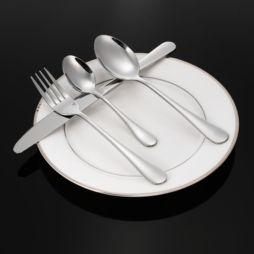 16pcs High-end Western Tableware 4 Set Stainless Steel Flatware Good Quality Fork Knife Spoon Dessert Spoon UtensilsHome &amp; Garden<br>16pcs High-end Western Tableware 4 Set Stainless Steel Flatware Good Quality Fork Knife Spoon Dessert Spoon Utensils<br>