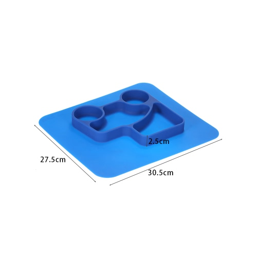 2 in 1 Safe Waterproof Blue Silicone Divided Placemat Plate Bowl Tableware for Baby Toddler KidsHome &amp; Garden<br>2 in 1 Safe Waterproof Blue Silicone Divided Placemat Plate Bowl Tableware for Baby Toddler Kids<br>