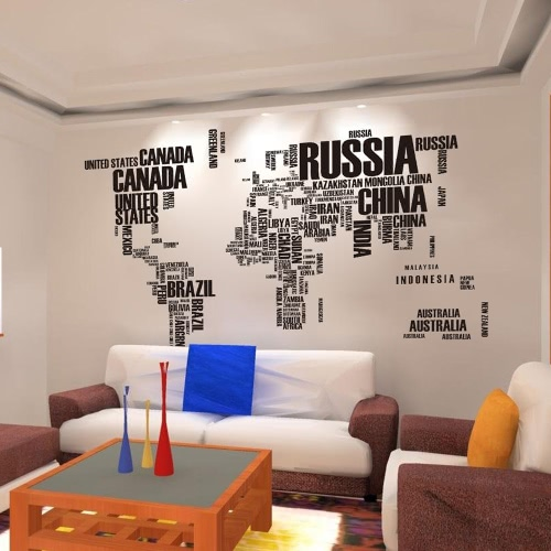 Decorative Self Adhesive Living Room Bedroom Letter World Map Decal Removable Mural Wall Art Sticker Home Decor DIYHome &amp; Garden<br>Decorative Self Adhesive Living Room Bedroom Letter World Map Decal Removable Mural Wall Art Sticker Home Decor DIY<br>