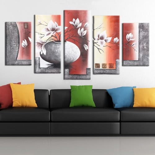 5-Panel 36*60 Hand Painted Oil Painting Flower &amp; Pot Unframed Canvas Wall Picture Wall Decoration Paintings Beautiful Room DecorHome &amp; Garden<br>5-Panel 36*60 Hand Painted Oil Painting Flower &amp; Pot Unframed Canvas Wall Picture Wall Decoration Paintings Beautiful Room Decor<br>