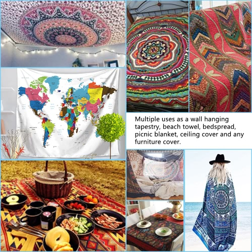 130*150cm Polyester Home Wall Hanging Decor Art Foreign World Map Exotic Printing Tapestry Beach Throw Towel Blanket Picnic CarpetHome &amp; Garden<br>130*150cm Polyester Home Wall Hanging Decor Art Foreign World Map Exotic Printing Tapestry Beach Throw Towel Blanket Picnic Carpet<br>