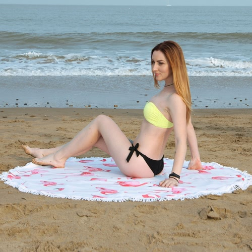 150cm Diameter Round Colorful Beach Towel Tapestry Mat Picnic Blanket Beach Shawl with Fringe Tassels  for Holiday TravelHome &amp; Garden<br>150cm Diameter Round Colorful Beach Towel Tapestry Mat Picnic Blanket Beach Shawl with Fringe Tassels  for Holiday Travel<br>