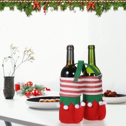 3pcs/set Christmas Wine Bottle Bags Beverage Drink Holders Candy Gift Bags Set with Handles Christmas Decorations OrnamentsHome &amp; Garden<br>3pcs/set Christmas Wine Bottle Bags Beverage Drink Holders Candy Gift Bags Set with Handles Christmas Decorations Ornaments<br>