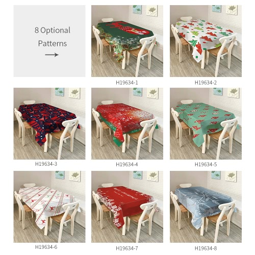 80 * 60 Rectangle Christmas Dinner Tablecloth Polyester Printed Coffee Table Cover Christmas DecoartionsHome &amp; Garden<br>80 * 60 Rectangle Christmas Dinner Tablecloth Polyester Printed Coffee Table Cover Christmas Decoartions<br>