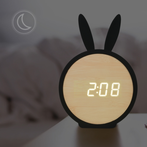Kids Wooden LED Digital Alarm Clock USB &amp; Battery Operated Sound Control Clock with Year / Month / Date / Time / Temperature DisplHome &amp; Garden<br>Kids Wooden LED Digital Alarm Clock USB &amp; Battery Operated Sound Control Clock with Year / Month / Date / Time / Temperature Displ<br>