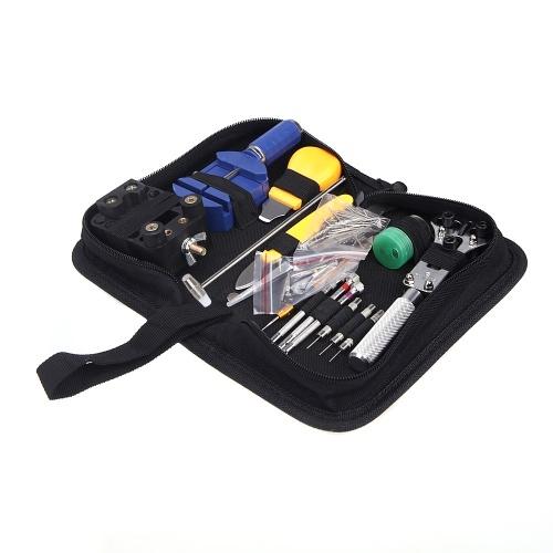 TOMTOP 144pcs Orologiai Tool portatile Kit del cinturino di rimozione di collegamento & Zip Cassa Orologiaio