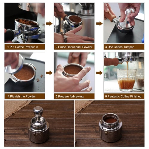 High-quality Stainless Steel Coffee Tamper Barista Espresso Tamper Coffee Accessory 2.01BaseHome &amp; Garden<br>High-quality Stainless Steel Coffee Tamper Barista Espresso Tamper Coffee Accessory 2.01Base<br>