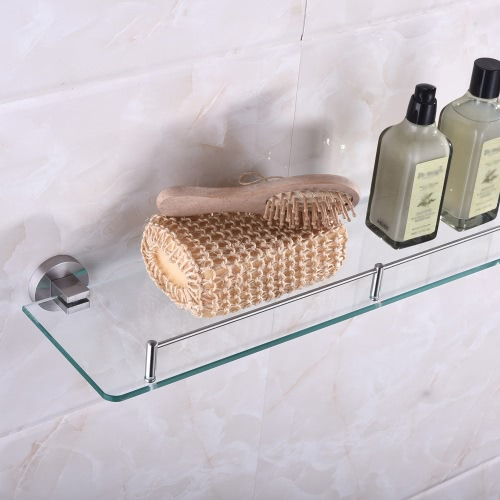 Homgeek High-quality Multi-use Stainless Steel Glass Shelf Storage Rack Wall Mount Organizer Bathroom Kitchen Holder Household HotHome &amp; Garden<br>Homgeek High-quality Multi-use Stainless Steel Glass Shelf Storage Rack Wall Mount Organizer Bathroom Kitchen Holder Household Hot<br>
