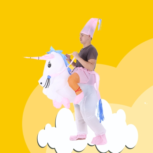 Cute Adult Inflatable Unicorn Costume Suit Blow Up Fancy Dress Party Halloween Inflatable Pegasus Outfit Jumpsuit for Men WomenHome &amp; Garden<br>Cute Adult Inflatable Unicorn Costume Suit Blow Up Fancy Dress Party Halloween Inflatable Pegasus Outfit Jumpsuit for Men Women<br>