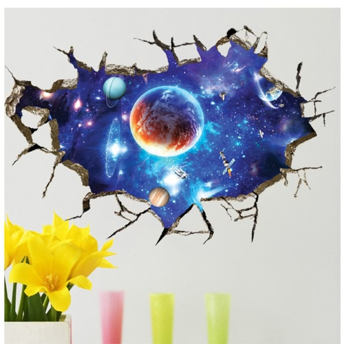 Decorative Self Adhesive Living Room Bedroom 3D Starry Sky Decal Removable Mural Wall Art Sticker Home Decor DIYHome &amp; Garden<br>Decorative Self Adhesive Living Room Bedroom 3D Starry Sky Decal Removable Mural Wall Art Sticker Home Decor DIY<br>